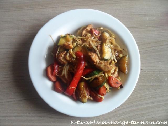 wok de poulet au soja