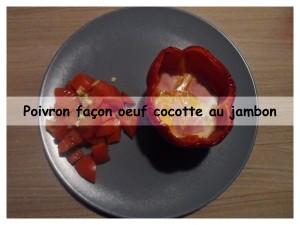 poivron façon oeuf cocotte au jambon