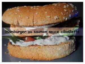 Hamburger au saumon sauce ciboulette