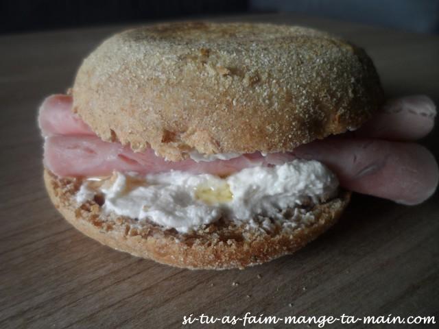 Muffin jambon chèvre miel1
