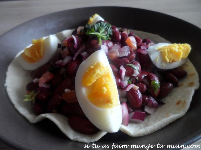 salade aux haricots rouges sur tortilla2