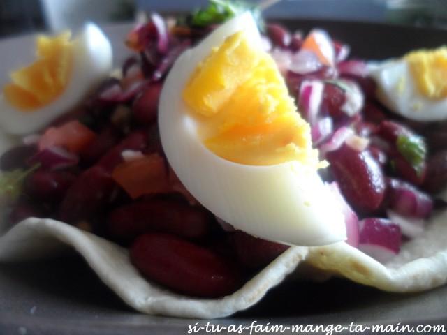 salade aux haricots rouges sur tortilla3