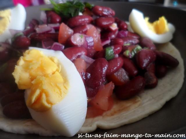salade aux haricots rouges sur tortilla4