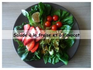 Salade à la fraise et à l'avocat