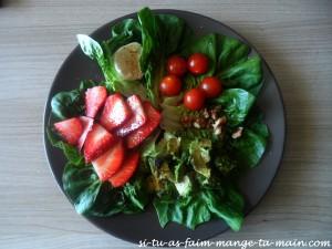 Salade à la fraise et à l'avocat1