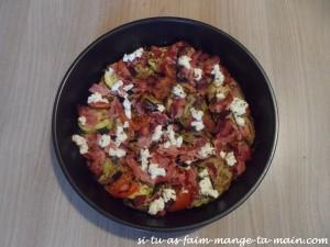 Tian de légumes chèvre jambon