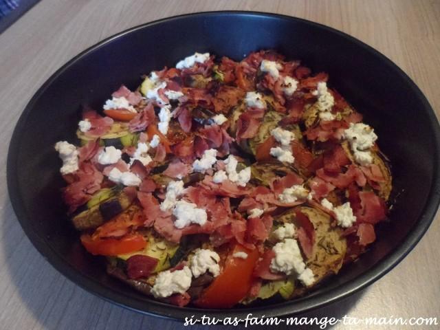 Tian de légumes chèvre jambon1