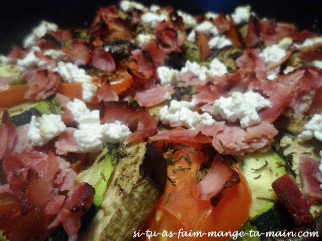 Tian de légumes chèvre jambon2