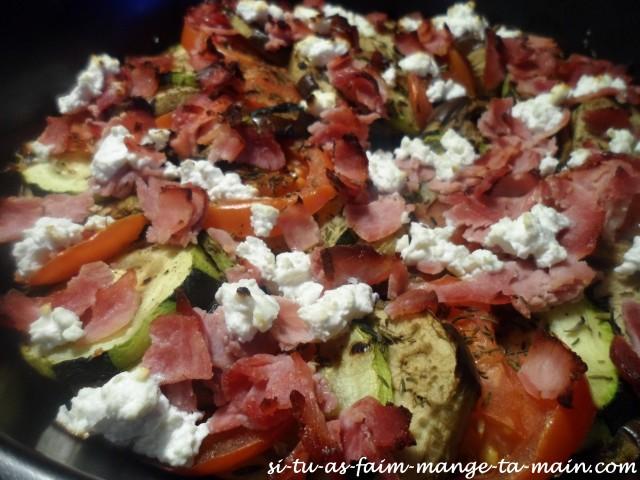 Tian de légumes chèvre jambon3