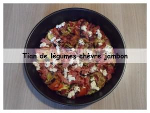 Tian de légumes chèvre jambon4