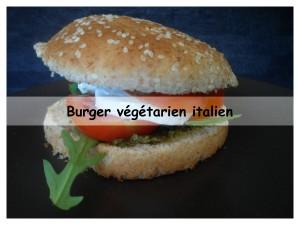 burger végétarien italien