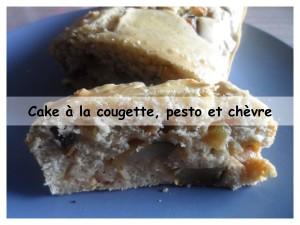 cake à la courgette, pesto et chèvre