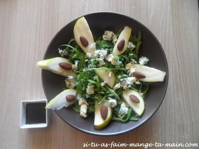 salade à la poire, bleu d'auvergne & amande2