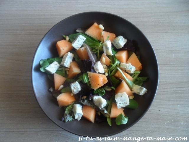 salade melon gorgonzola