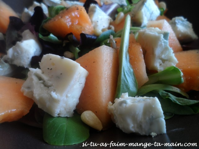 salade melon gorgonzola1