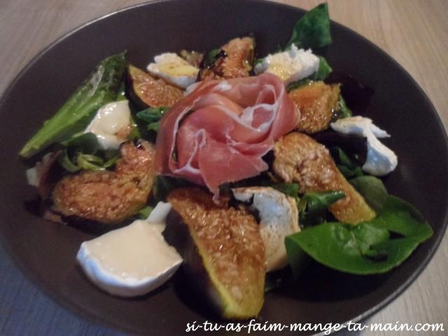 salade chèvre figue et jambon cru2