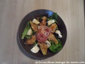 salade chèvre figue et jambon cru3