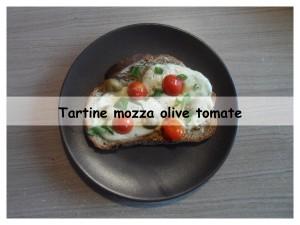 tartine mozza olive tomate