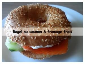 bagel au saumon & fromage frais