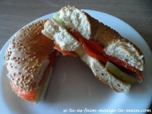 bagel au saumon & fromage frais1