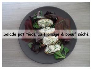 salade de pdt tiede au fromage et boeuf seché 2