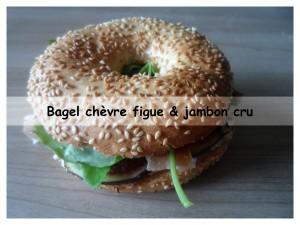 bagel chèvre figues & jambon cru2