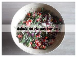 salade de riz aux haricots