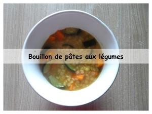Bouillon de pâtes aux légumes
