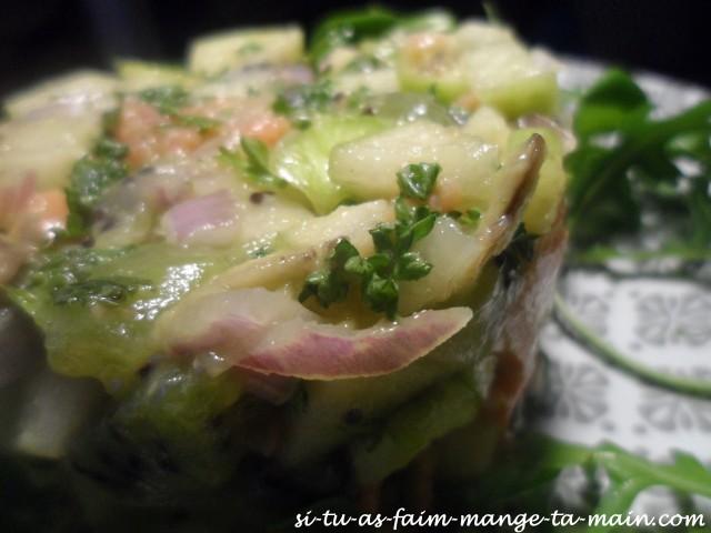 tartare de saumon aux fruits