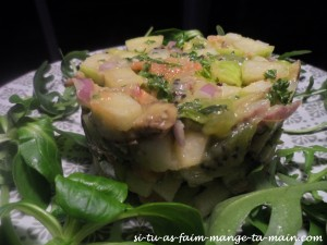 tartare de saumon aux fruits1