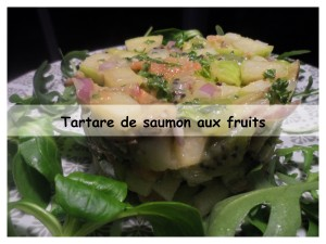 tartare de saumon aux fruits2