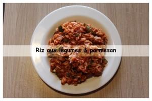 riz aux légumes & parmesan