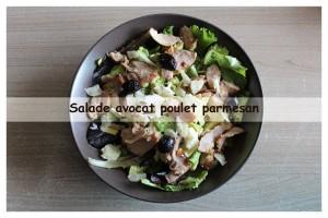 salade avocat poulet parmesan