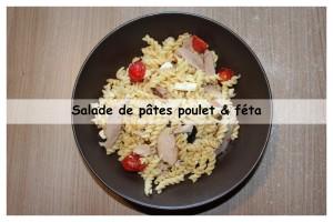 salade de pates poulet et féta