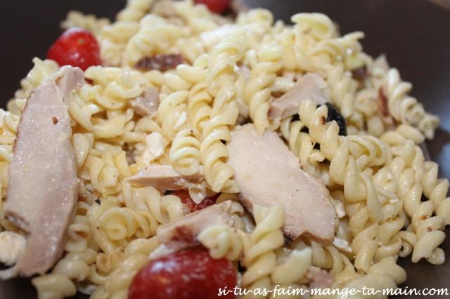 salade de pates poulet et féta1